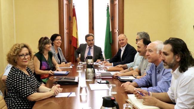 López exige al Ministerio la llegada del Corredor Mediterráneo a Almería y su conexión con Granada y Sevilla