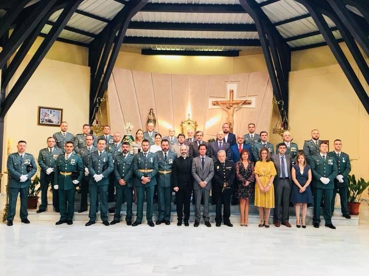 El Ayuntamiento de El Ejido se suma a la misa de a Patrona de la Guardia Civil