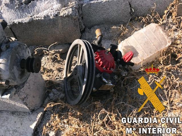 La Guardia Civil investiga a una persona por hurto en explotación agrícola y recupera numerosa maquinaria