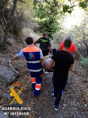 Dos personas rescatadas en sendas operaciones de la Guardia Civil en la Alpujarra