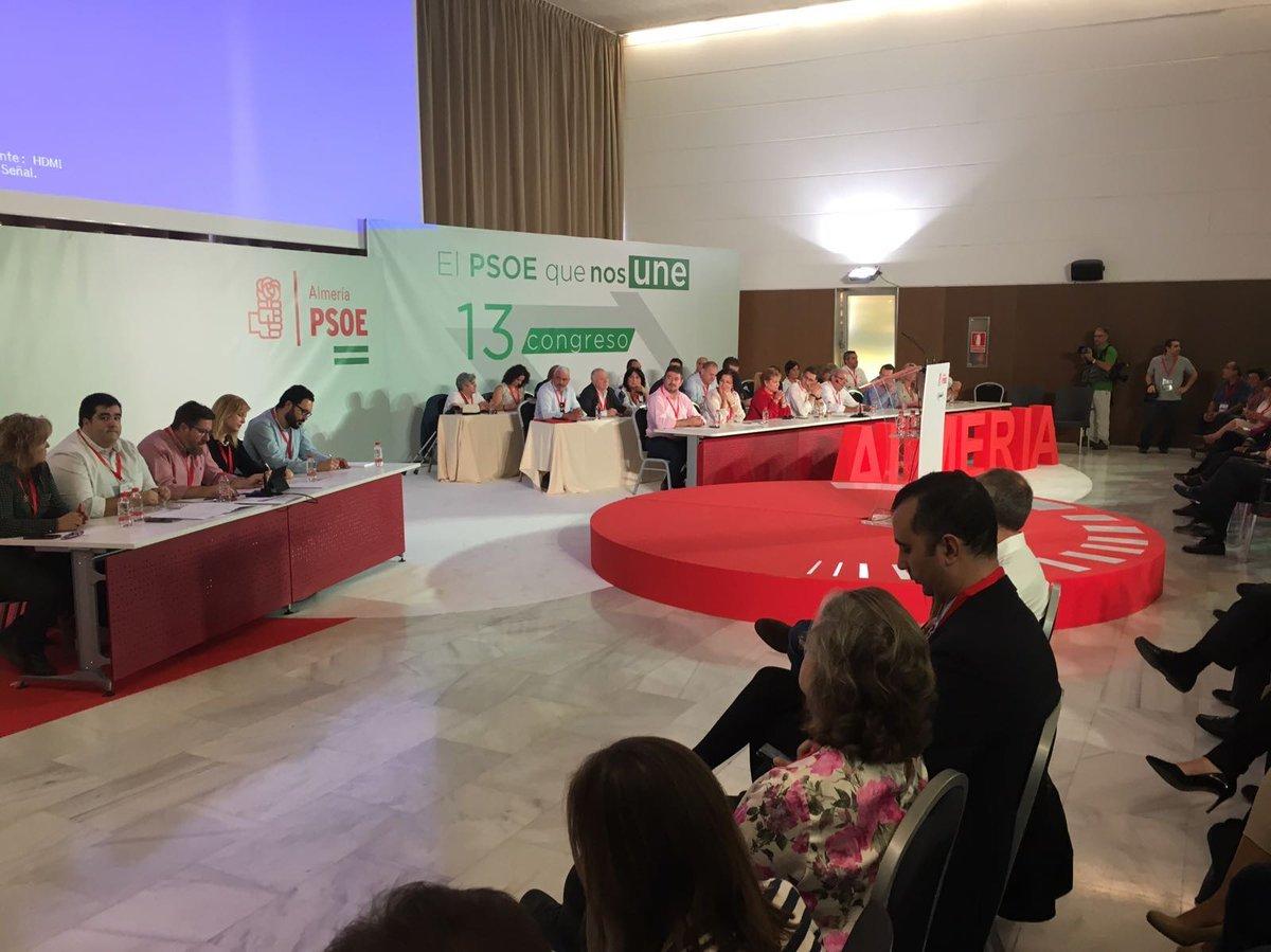 El consejero Sánchez Haro preside el Congreso Provincial del PSOE de Almería