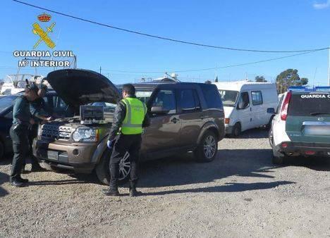 Guardia Civil detiene al autor de un delito de robo en interior de un vehículo
