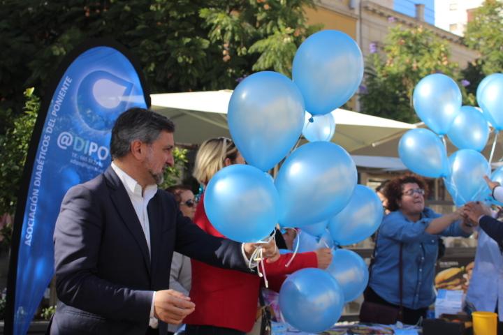 Diputación apoya a la Asociación @Dipo en el Día Mundial de la Diabetes