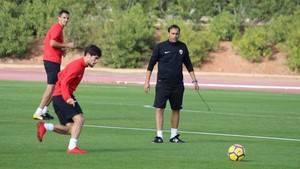 El Almería prepara ya de manera específica el partido contra el Real Zaragoza