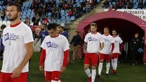 El Almería y el Zaragoza mostraron su rechazo a la violencia machista