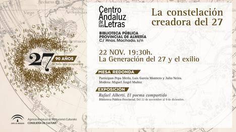 Rafael Alberti centrará el homenaje en Almería a la Generación del 27
