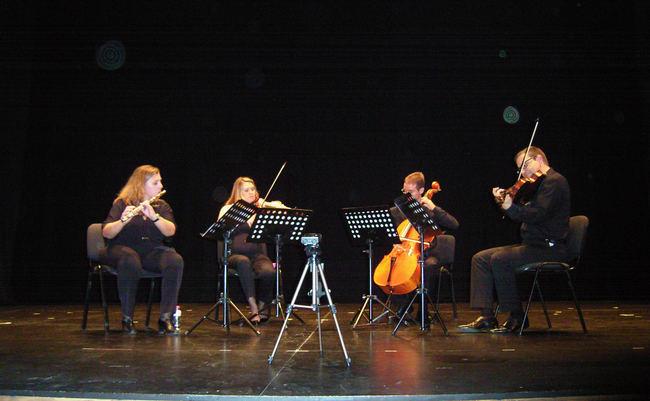 Gran concierto del Cuarteto FIMA en la Escuela Municipal de Música de Roquetas de Mar