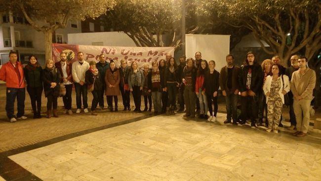 Izquierda Unida congrega en El Ejido a decenas de personas contra la violencia machista