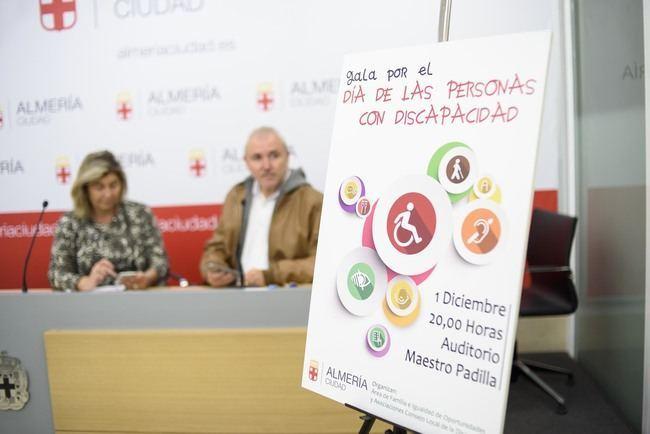 La I Gala de la Discapacidad organizada por el Ayuntamiento de Almería reúne este viernes en el 'Maestro Padilla' a más de 40 colectivos