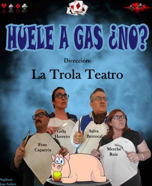 La Trola Teatro representa 'Huele a gas ¿no?' en la Escuela de Música de Roquetas
