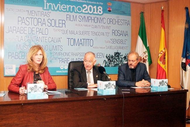 Rosana, Pablo López, Jarabe de Palo, Tomatito y Pastora Soler actuarán este invierno en Roquetas de Mar