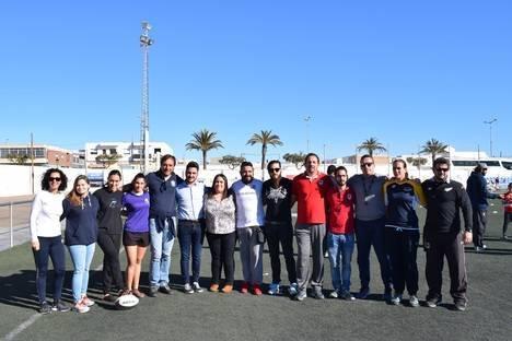 Ciento cincuenta niños de la provincia participan en unas jornadas de Rugby en Campohermoso