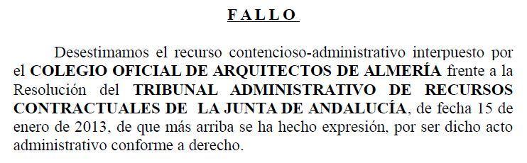 El TSJA desestima el recurso de los Arquitectos contra la adjudicación del Mesón Gitano