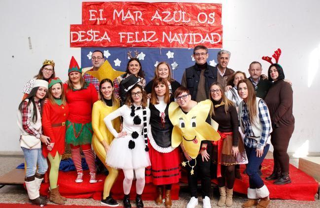 La Escuela Infantil Mar Azul da la bienvenida a la Navidad