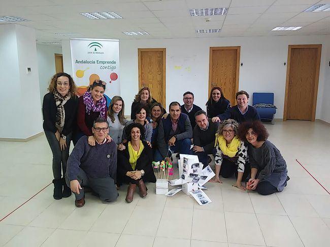 Andalucía Emprende mejora su creatividad en un taller para reforzar los servicios que ofrece a sus usuarios