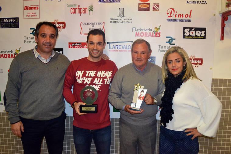 La Peña Milhojas premia a Jairo Ruiz y a Juan Francisco Rodríguez