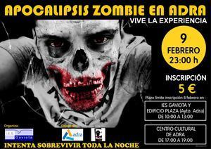 Apocalipsis zombie en Adra el proximo 9 de febrero