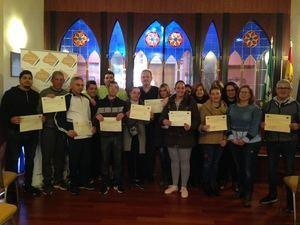 Los participantes de los Panes de empleo de Cuevas reciben su acrediación