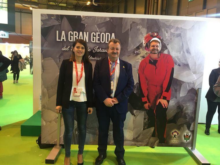 Pulpí promociona en Fitur la Geoda Gigante de Jaravía, que será visitable en 2019