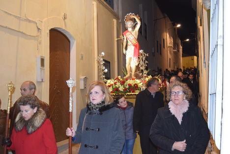 Gádor acompaña en procesión a San Sebastián durante las fiestas patronales en su honor