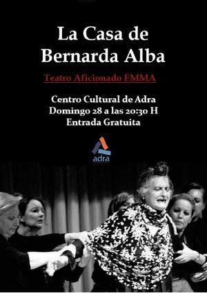 El Centro Cultural acoge la representación teatral de 'La Casa de Bernarda Alba'
