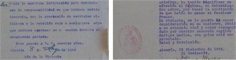 Documentos personales y oficiales de la Guerra Civil en Almería están a la venta en internet
