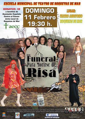 La Escuela Municipal de Teatro de Roquetas representan 'Un funeral para morir…de risa'