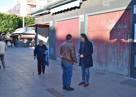 Ciudadanos Almería demanda mantenimiento en el Mercado de la Plaza Pavía