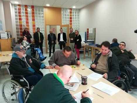 El delegado de Empleo visita la Residencia y Unidad de Estancias Diurnas para personas con grave discapacidad de FAAM