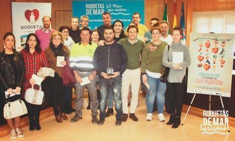 La campaña comercial por San Valentín en Roquetas logra triplicar sus ventas