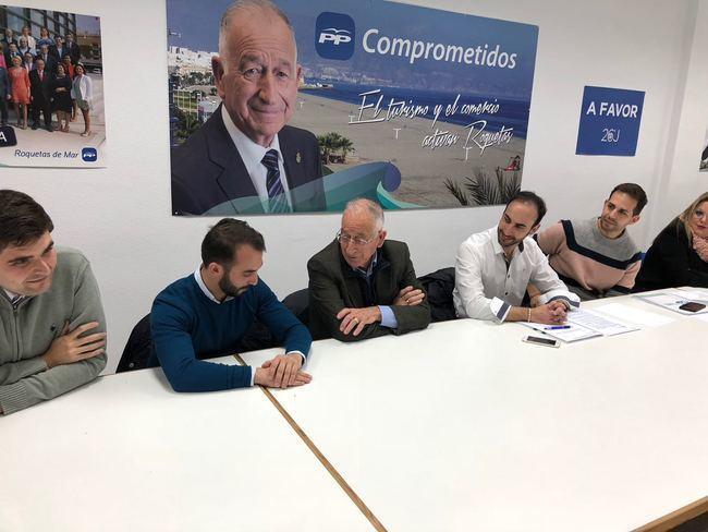 Amat preside el comité provincial de NNGG Almería en la sede de Roquetas de Mar