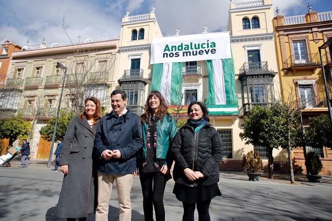 """Juanma Moreno: """"El 28-F tiene que ser de todos, la Junta no es del PSOE, ni la bandera representa a una ideología"""""""