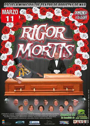 Alumnos de la Escuela Municipal de Teatro de Roquetas representan mañana la obra 'Rigor Mortis'