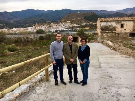 La Junta y el Ayuntamiento de Purchena mejoran el acceso a la Vía Verde del Almanzora