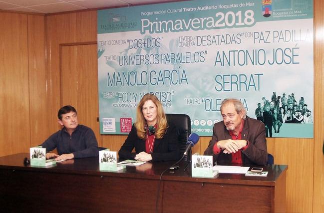Serrat, Antonio José y Manolo García actuarán esta primavera en Roquetas