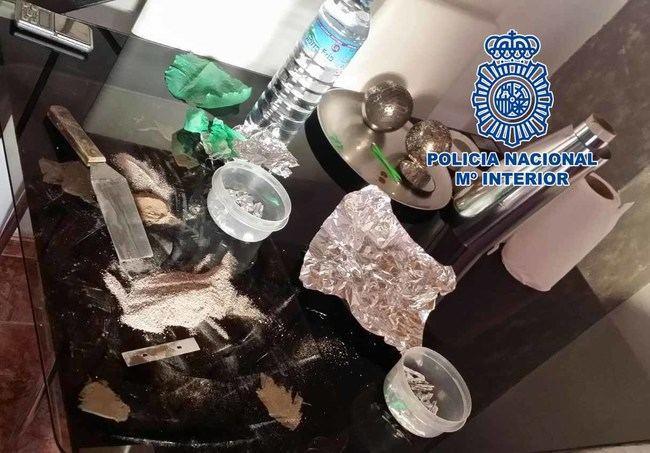 La Policía Nacional desmantela uno de los puntos más activos de venta de drogas en la capital