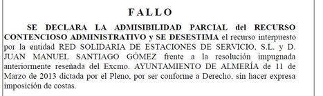 Ya hubo sentencia a favor del Ayuntamiento de Almería en uno de los tres expedientes pedidos por la UDEF
