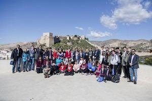 Más de 40 alumnos de Alemania, Polonia, Suecia y el IES Sol de Portocarrero de Almería visitan el Ayuntamiento