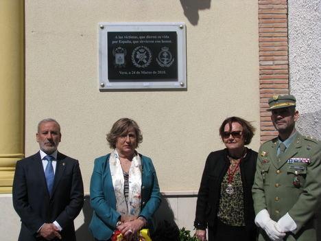 """Vera acoge el Homenaje a las Víctimas del terrorismo la Asociación de Guardias Civiles """"Marqués de las Amarillas"""""""