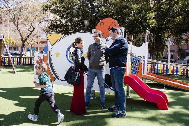 La plaza de Gaudí en el barrio de San Luis acoge el primer parque inclusivo que se va a adaptar en la capital