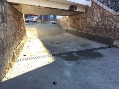 """Gádor ultima las obras de """"La Puente"""" que mejoran el paso subterráneo bajo las vías del tren"""