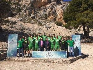 Club Voleibol Almería patrocinado con 'Andalucía, Huella Universal'