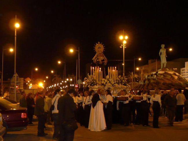 Vícar disfrutó de sus procesiones de Semana Santa con fervor y recogimiento
