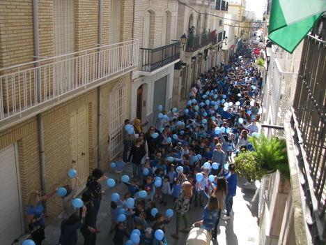 Marcha de escolares veratenses para