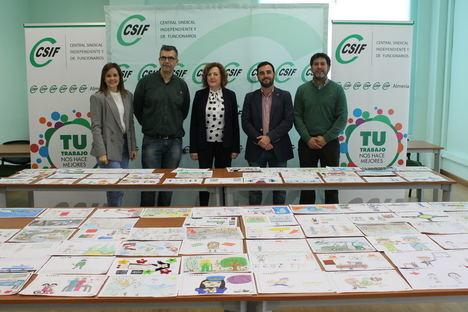 Más de 1.300 dibujos participan en el III Concurso 'Empleados Públicos, héroes para todos' que organiza CSIF