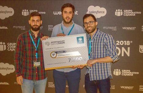 El equipo Working Data de la Universidad de Granada gana la II Edición de Cajamar UniversityHack 2018