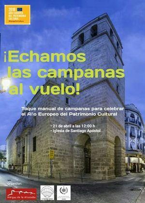 Amigos de la Alcazaba, La Soledad y la Iglesia de Santiago se suman al toque de campanas europeo