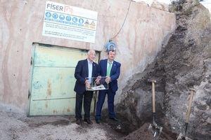Almería vive un día histórico con la primera piedra de las obras de la Geoda de Pulpí