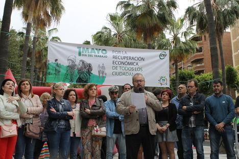 Más de medio millar de personas arropan a CSIF Almería en la celebración del 1 de mayo