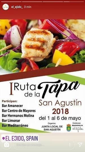 San Agustín celebra su 'I Ruta de la Tapa' con recetas tradicionales e innovadoras